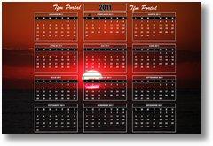 calendar 2011 sunrise
