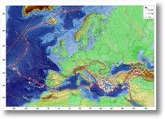 Harta cutremure Europa mari
