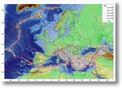 Harta cutremure Europa mici