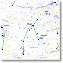 Perseus constellation