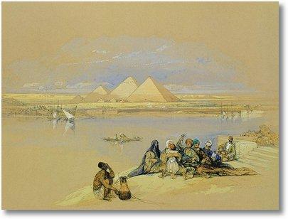 acuarela piramide