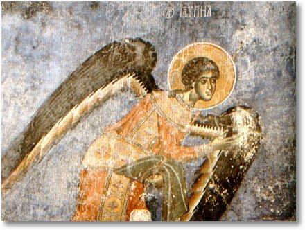 ArchAngel Gabriel fresco from church Arch before invasion 450