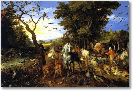 entry animals into noahs ark jan brueghel