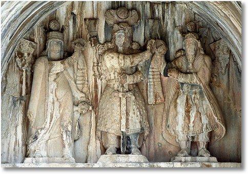 Bostan - High-relief of Anahita, Khosro II, Ahura Mazda