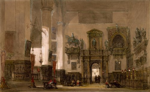 1david-roberts-Interior of San Giovanni and San Paolo, Venice)