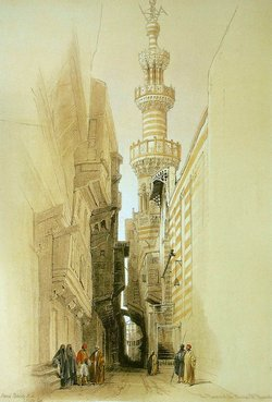 1david-roberts-Minaret of the Mosque El Rhamree