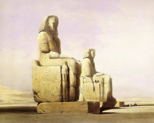 david-roberts-the-colossi-of-memnon-seen-from-the-southwest