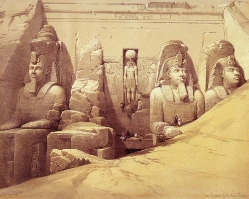 david-roberts-the-colossi-of-ramesses-ii-at-abu-simbel