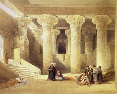 david-roberts-the-interior-of-the-temple-of-esna