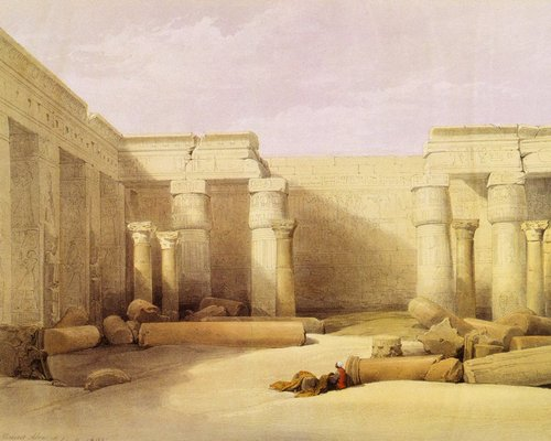 david-roberts-the-interior-of-the-temple-of-medinet-habu