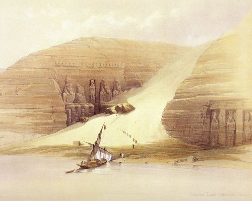 david-roberts-the-landing-stage-by-the-temple-of-abu-simbel