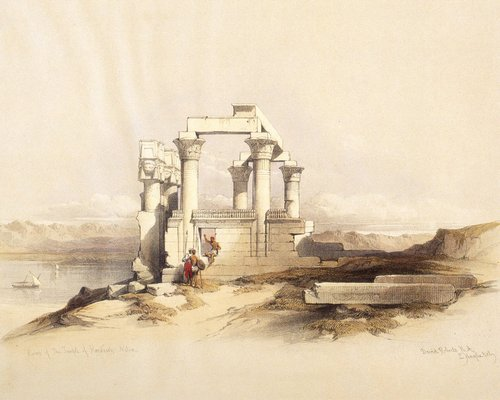 david-roberts-the-little-temple-of-wadi-kardassy