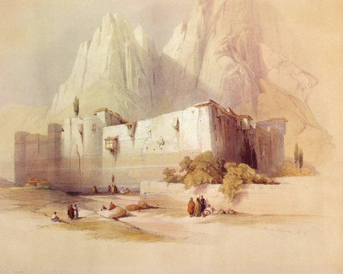 david-roberts-the-monastery-of-saint-catherine