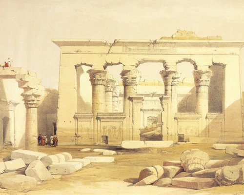 david-roberts-the-pronaos-of-the-temple-of-kalabsha