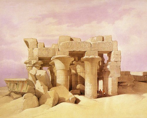 david-roberts-the-pronaos-of-the-temple-of-kom-ombo
