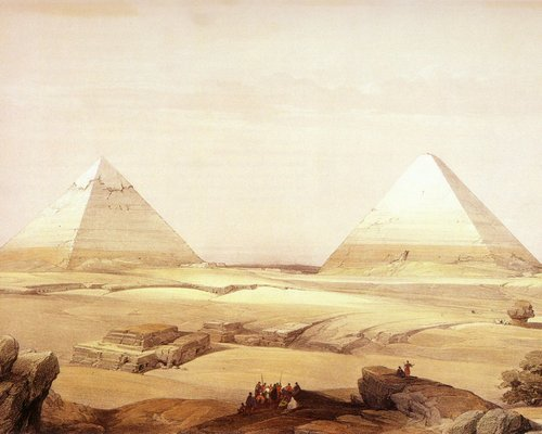 david-roberts-the-pyramids-of-cheops-and-chephren