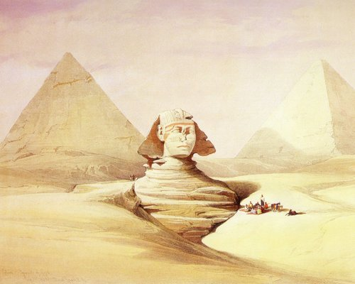 david-roberts-the-sphinx-front-view