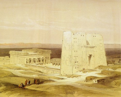 david-roberts-the-temple-of-edfu
