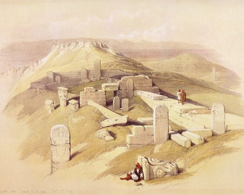 david-roberts-the-temple-of-gebel-garabe