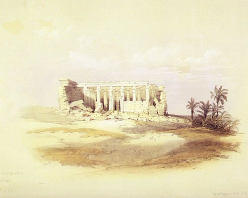 david-roberts-the-temple-of-wadi-maharraka