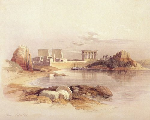 david-roberts-the-temples-of-philae-seen-from-the-south